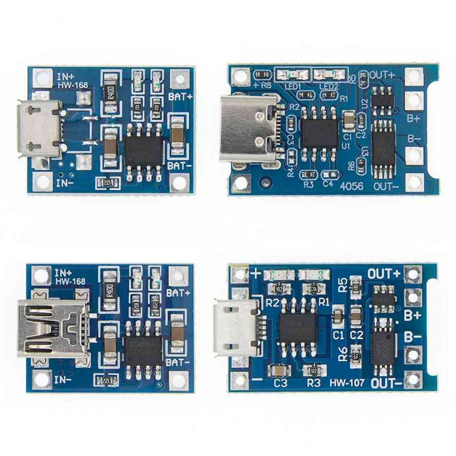 Tp4056- Protection Dual Functions, Micro Usb Lithium Battery, Charging Board Module