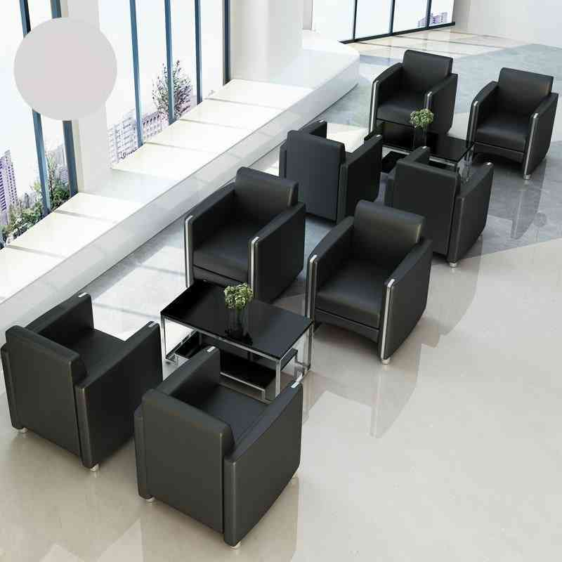 Leather Simple Cloth, Small Sofa, Reception Room & Tea Table Combination