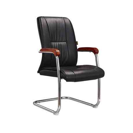 Furniture Bow Shape, Chaise Office, Leather Chair (black)