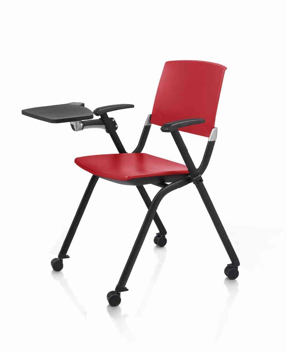 Folding Chair With Writing Board For Office, Home