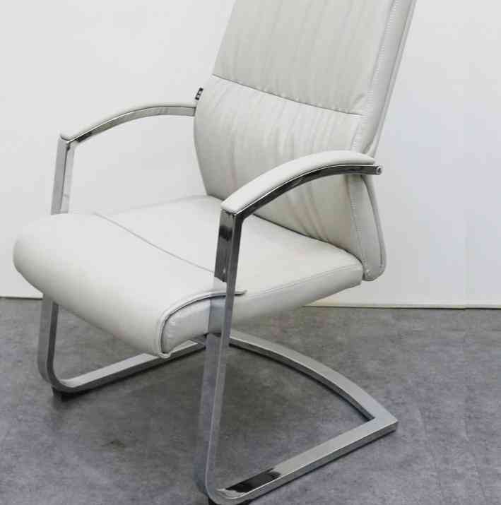 Leather With Armrest Home, Office Conference, Meeting Chair (light Gray)