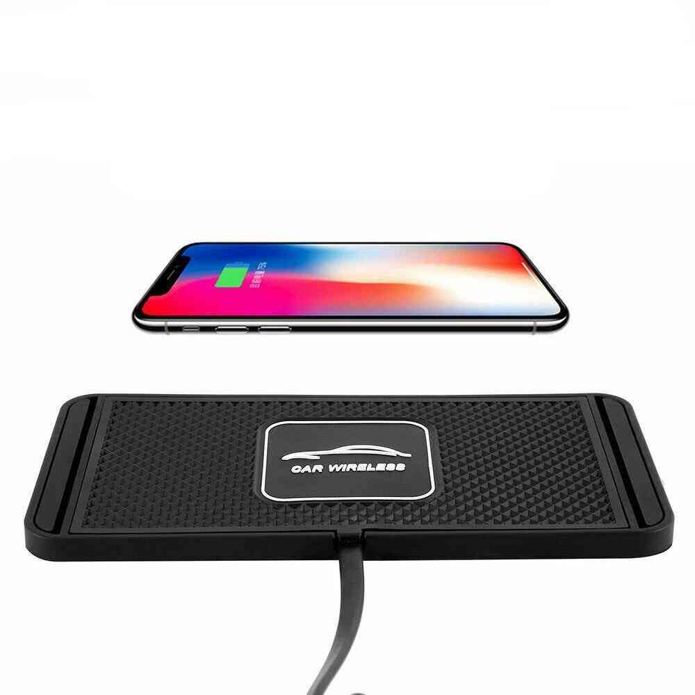 Non-slip Silicone, Wireless Fast Charging Mat For Car Dashboard