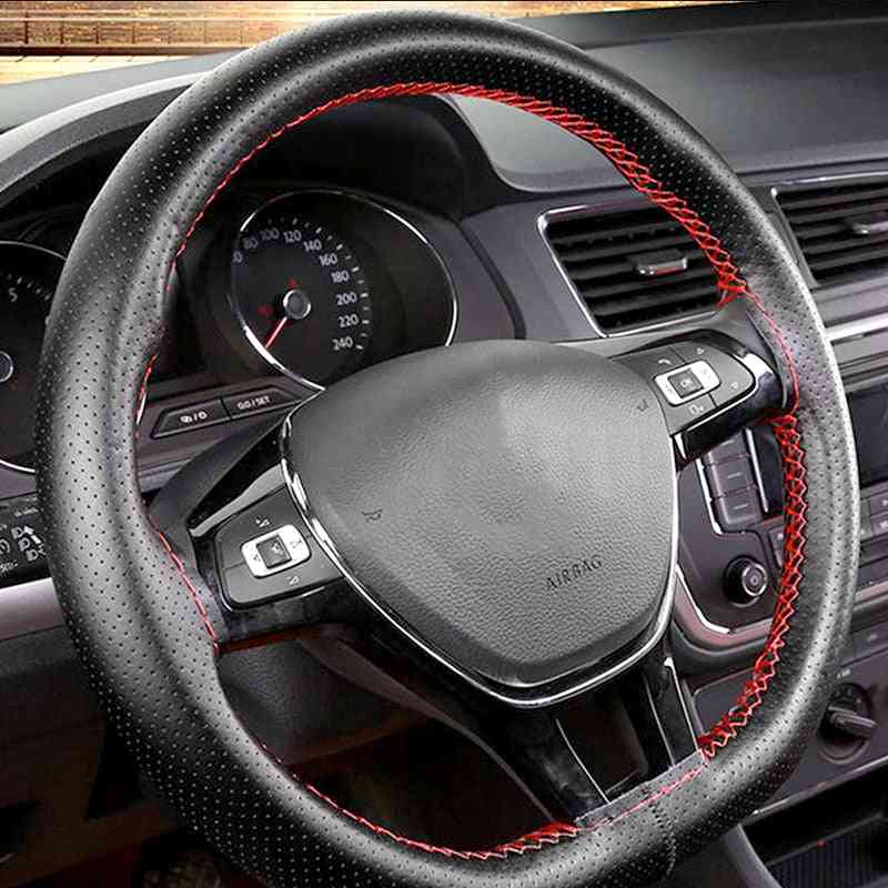 Soft Leather Steering Wheel Covers With Needle And Thread