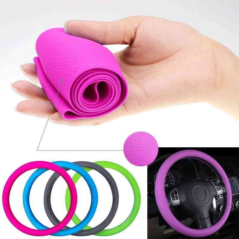 Car Silicone Steering Wheel Glove Cover