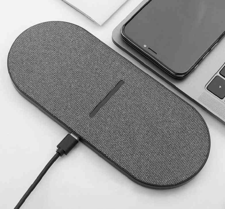 Dual Seat Wireless Charger, Double Fast Charging Pad