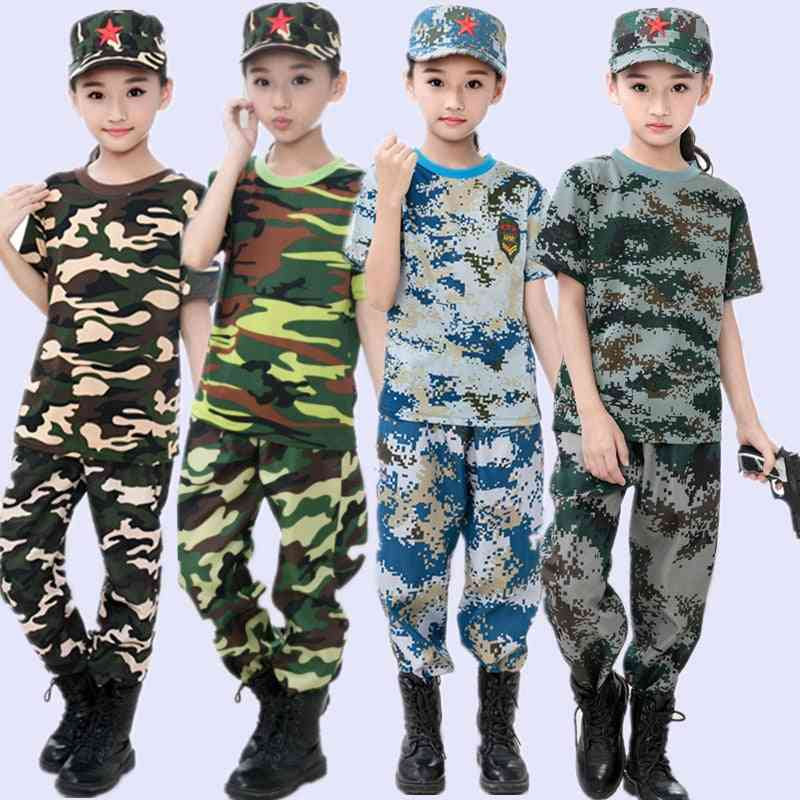 Kids Airsoft Military Tactical Uniform Sets, Camouflage Army Clothing