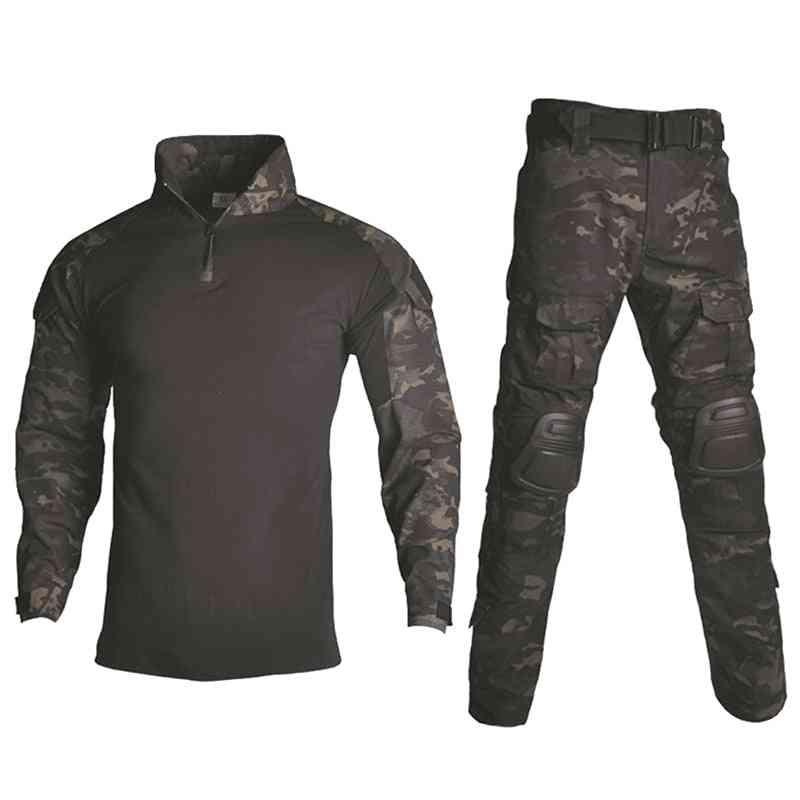 Tactical Camouflage Military Uniform Men Suit