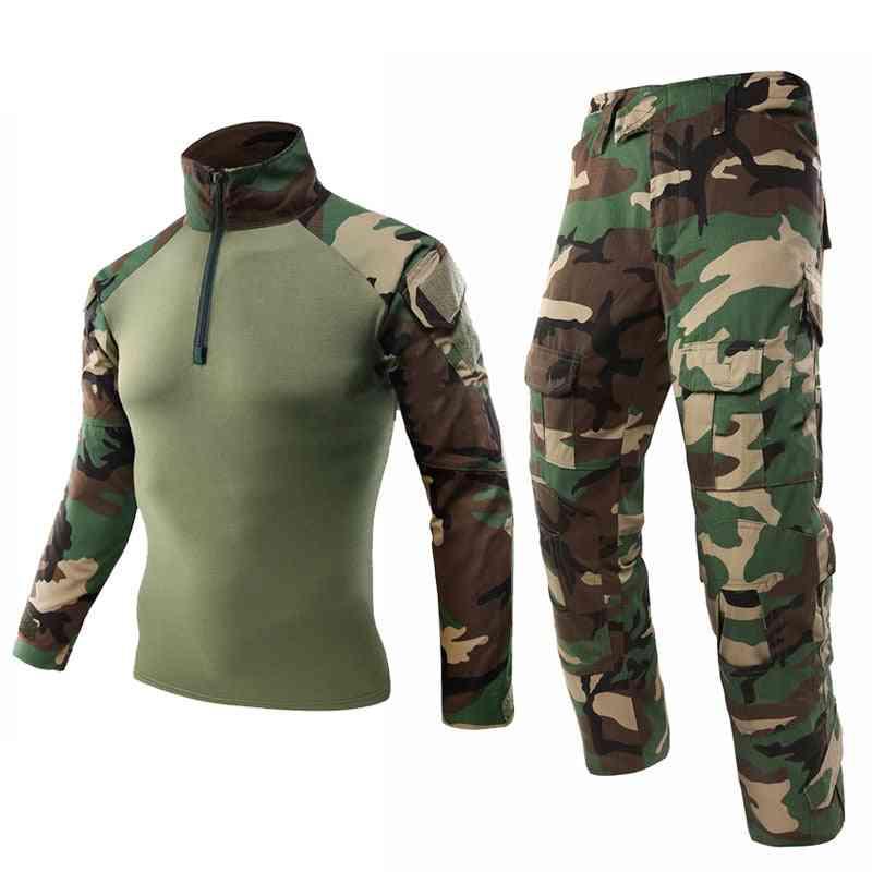 Army Military Uniform, Tactical Camouflage Suit, Shirt, Pants