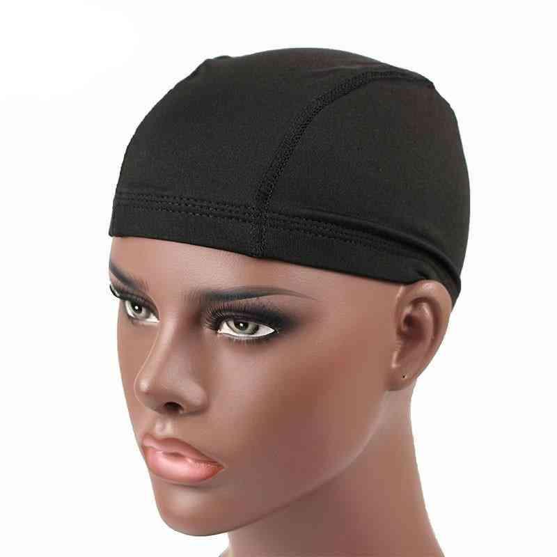 Spandex Seamless, Stretchy Headwear, Turban Dome Cap