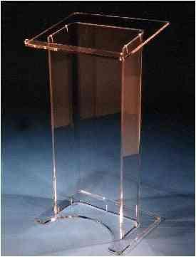 High Soundness, Modern Design, Clear Acrylic, Podium Plexiglass Lectern