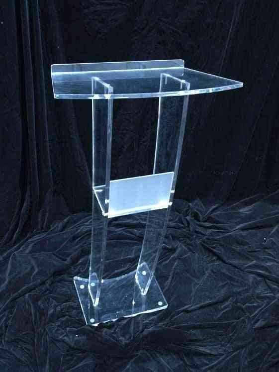 Clear Acrylic- Podium Pulpit, Podiums Lectern