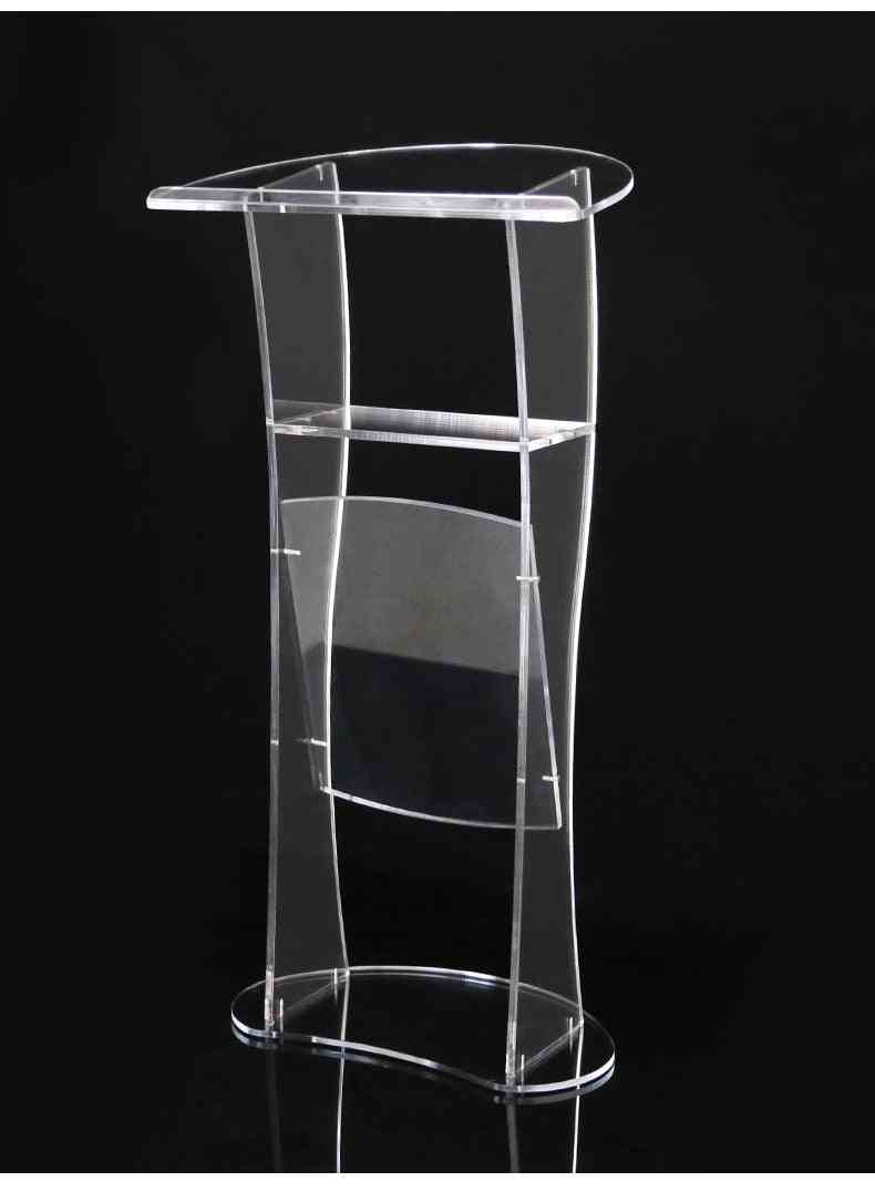 Modern Design- Clear Acrylic, Pulpit Lectern