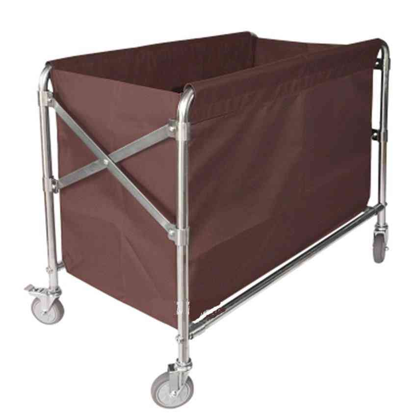 Stainless Steel- Folding Storage, Dirty Clothes, Cart Cleaning Trolley