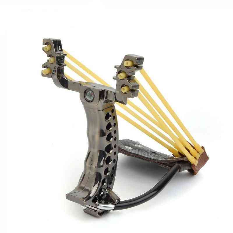 Powerful Hunting Slingshot With 2-rubber Band, Tubing Catapult