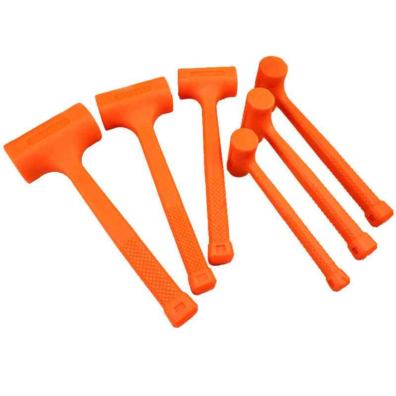 Dead Blow Mallet, Orange Soft Rubber, Unicast Hammer