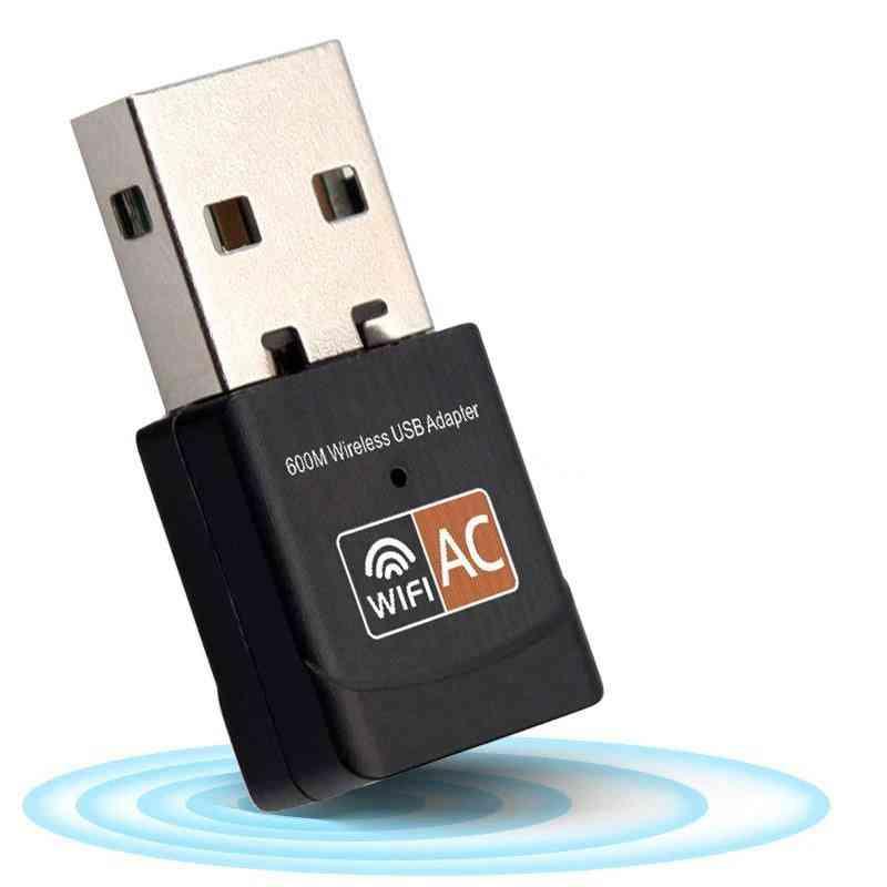 Wireless 5 Ghz, 600mbps Usb Wifi Receiver Adapter