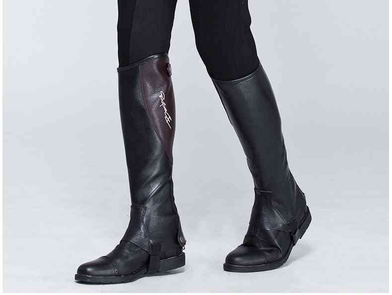Half & Full Soft, Cow Leather, Splicing Horse Riding Chaps, Body Protector Equipment