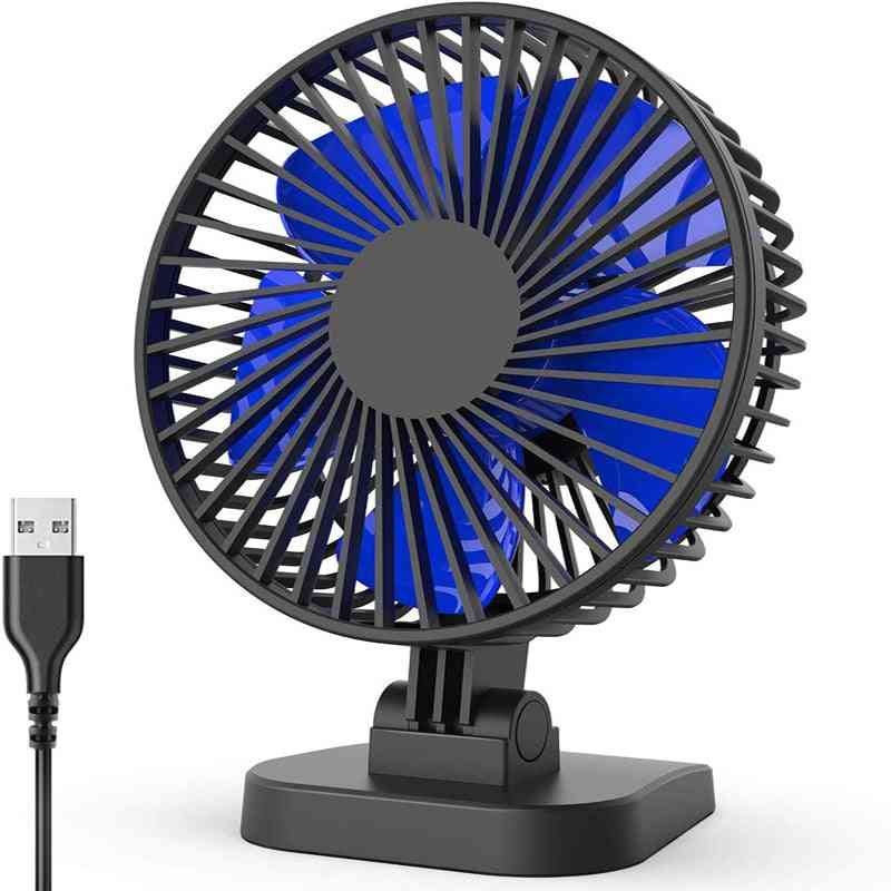 Portable 40° Adjustment Cooling With 3-speeds Cord, Usb Desk Fan