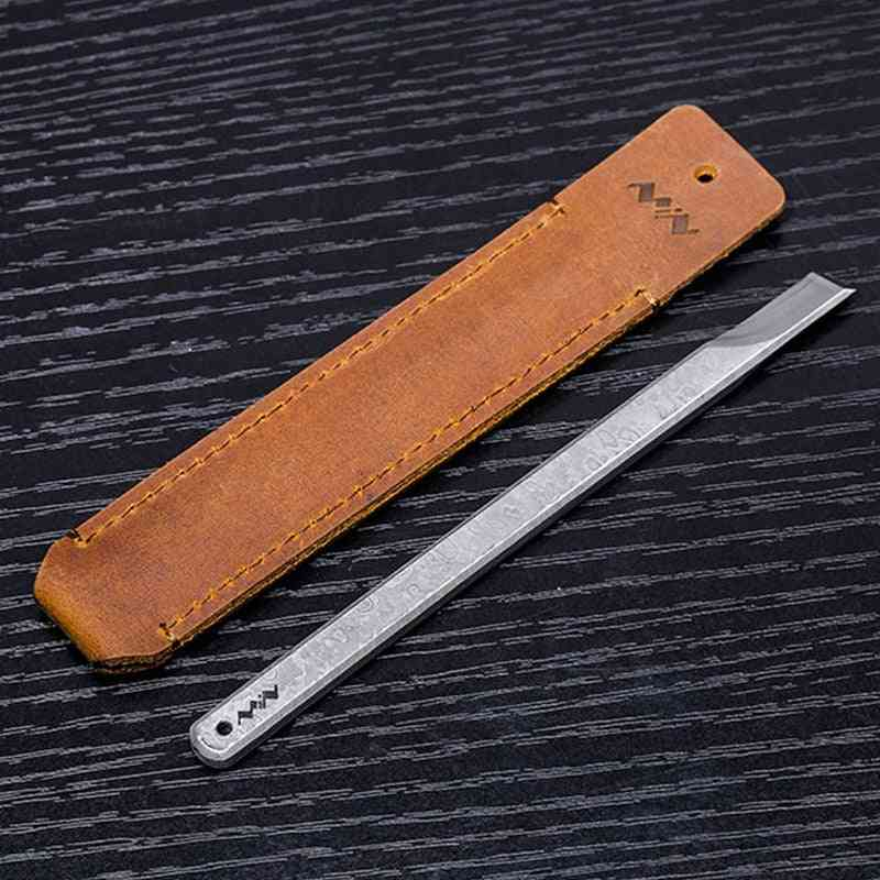 Stainless Steel, Hand Sharp With Portable Leather Bag And Oilstone Exquisite Tool Kit