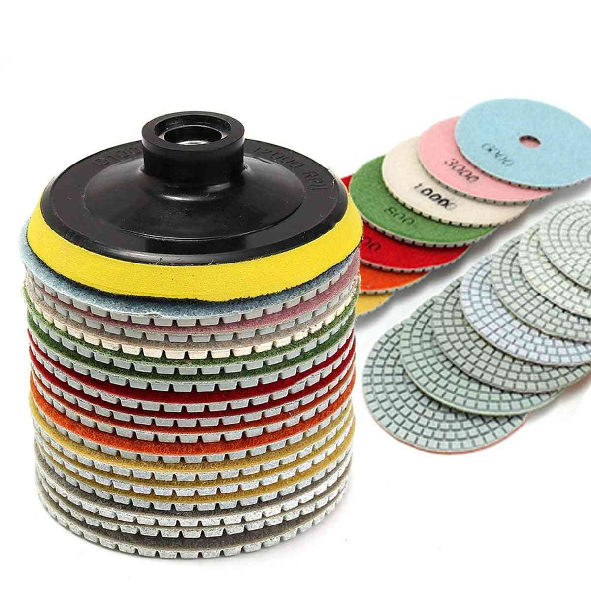 Diamond Polishing Pads Kit For Granite/concrete/marble Stone And Tiles