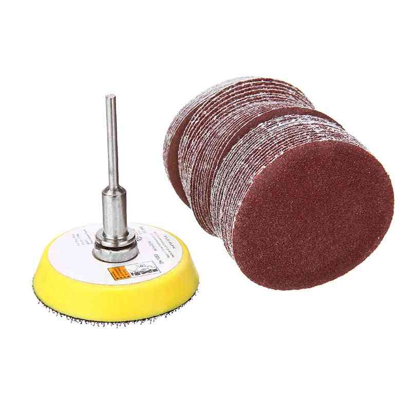 50pcs Grits Sandpaper Discs Pad With M6 Backer Plate