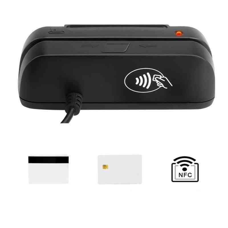 3 In 1 Combo Magnetic Card Reader + Emv Chip/rfid Nfc Reader Writer