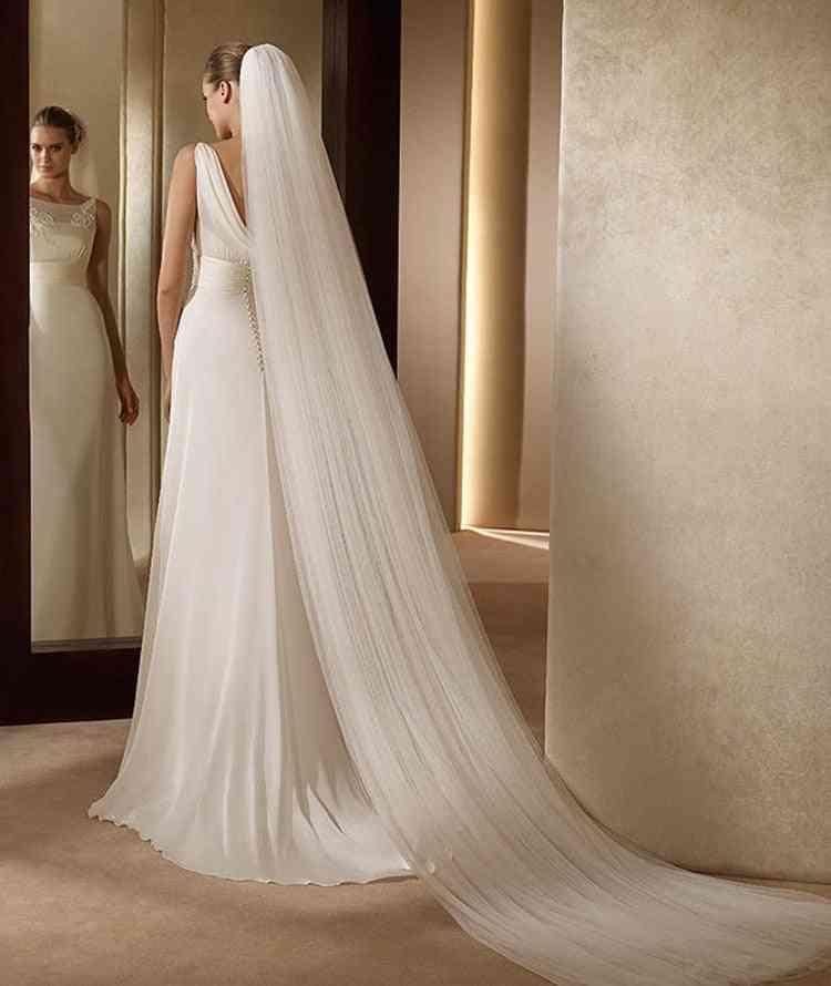 2-layer Elegant, Bridal Comb Veil