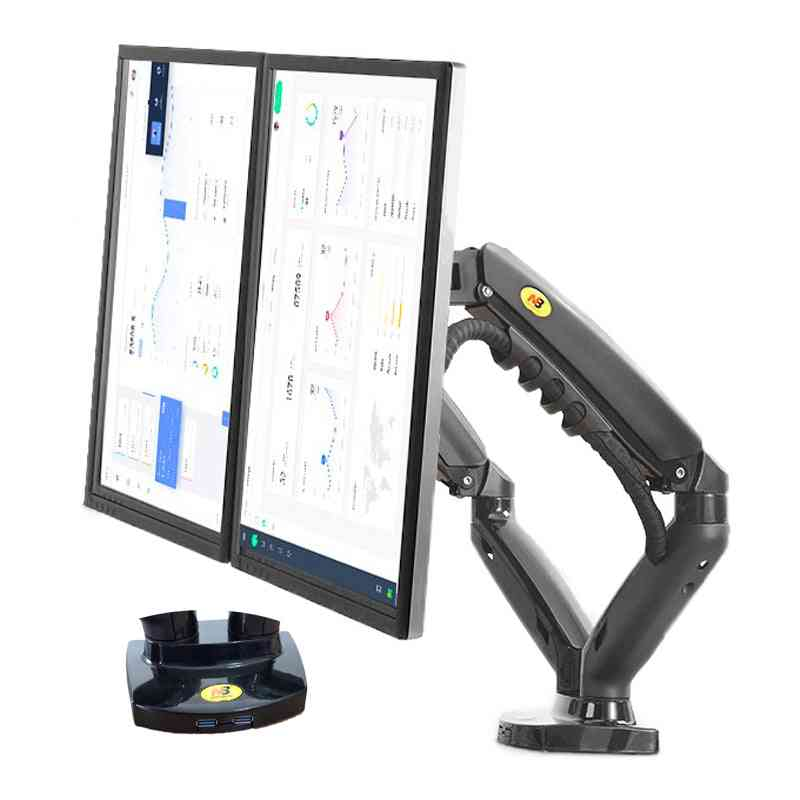 New Nb F160 Dual Monitor Holder, Mount Bracket