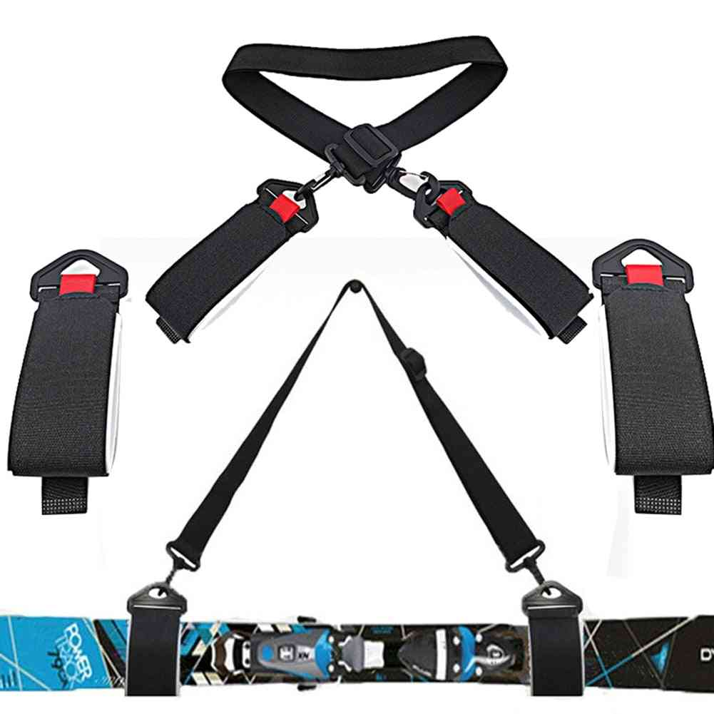 Adjustable Snowboard Strap, Ski Pole Shoulder Carrier, Outdoor Sports Skiing Accessories