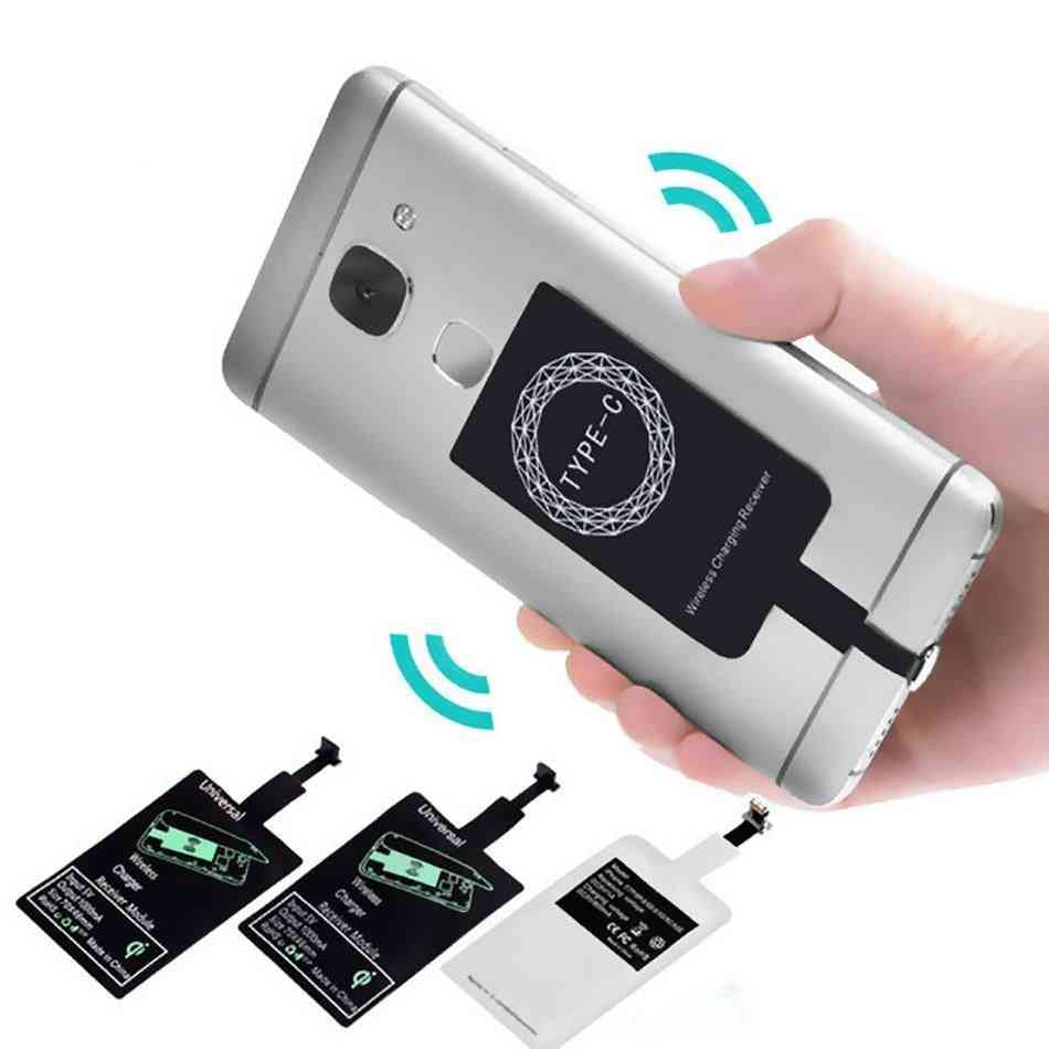 Micro Usb, Type-c Wireless Charger, Adapter Induction Receiver Coil