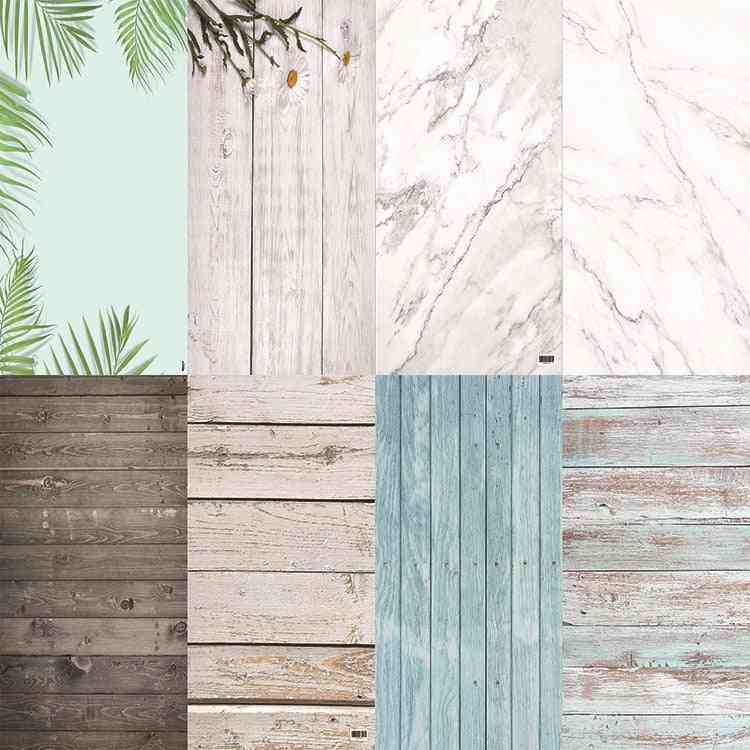 Pvc Photography Wood Printing Backdrops Waterproof Marble Background For Camera Photo
