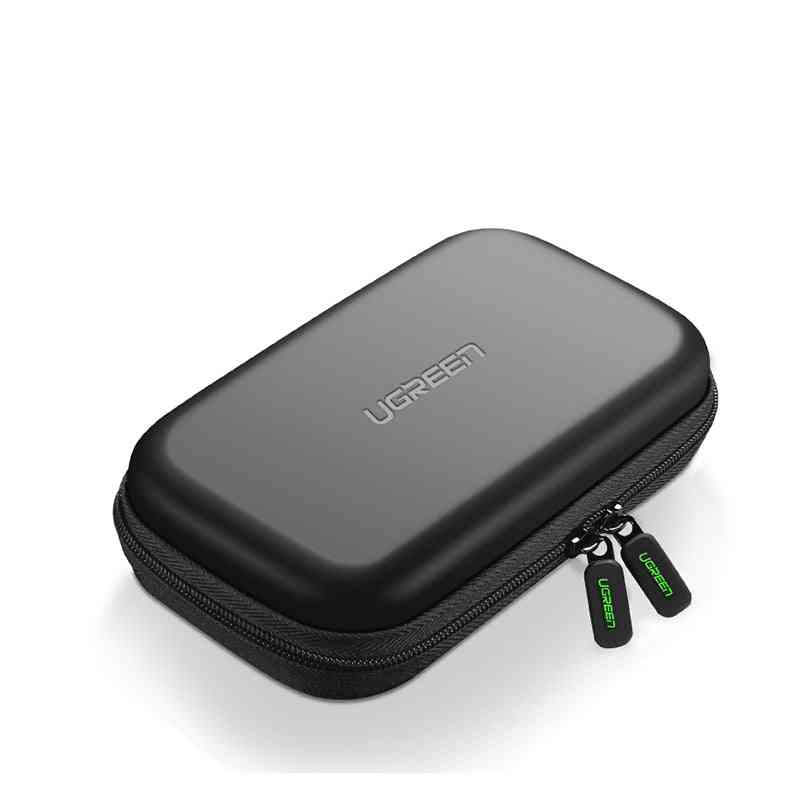 Power Bank Case, Hard Box For 2.5 Hdd, Usb Cable Storage