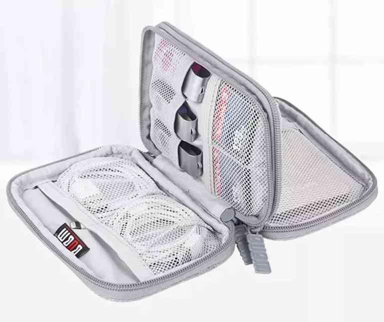 Portable 2.5'' External Hard Drive Case-travel Organizer Cable Bag