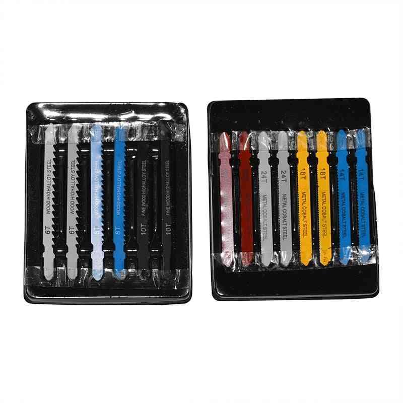 14pcs  T-shank Assorted Steel Jigsaw Blade Set