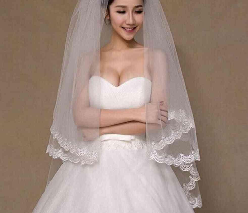 2 Tier Bridal Short Wedding Veil