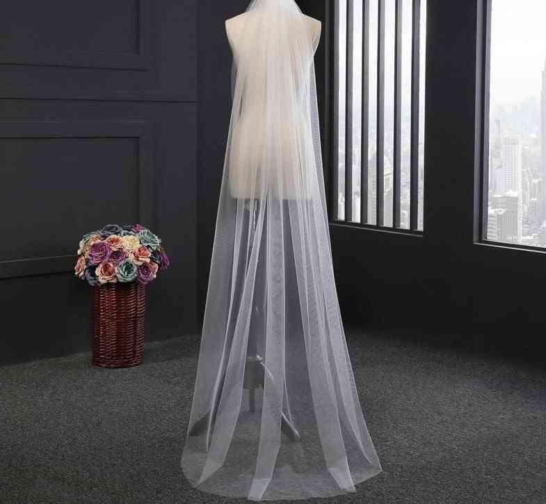 Single Layer- Tulle Chapel Length, Bridal Veil