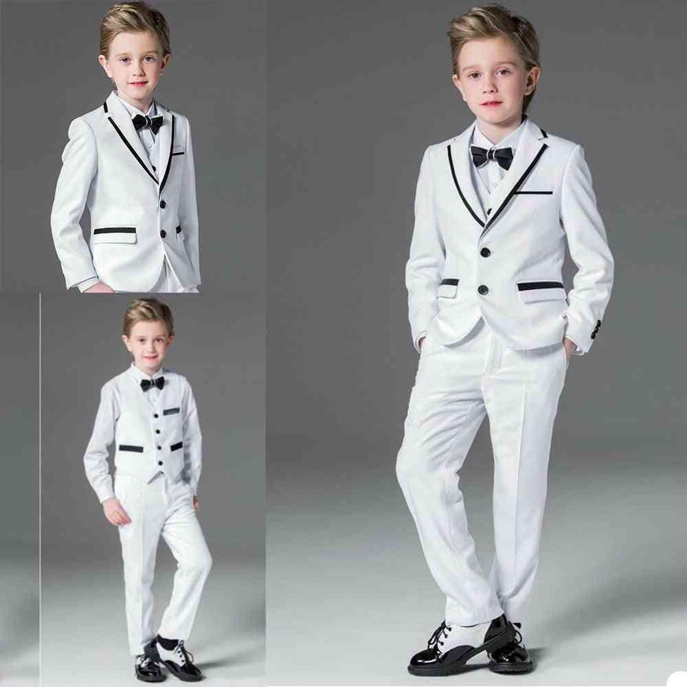 3 Pieces- Flower Formal, Tuxedos Jacket & Pants Suits Set-3