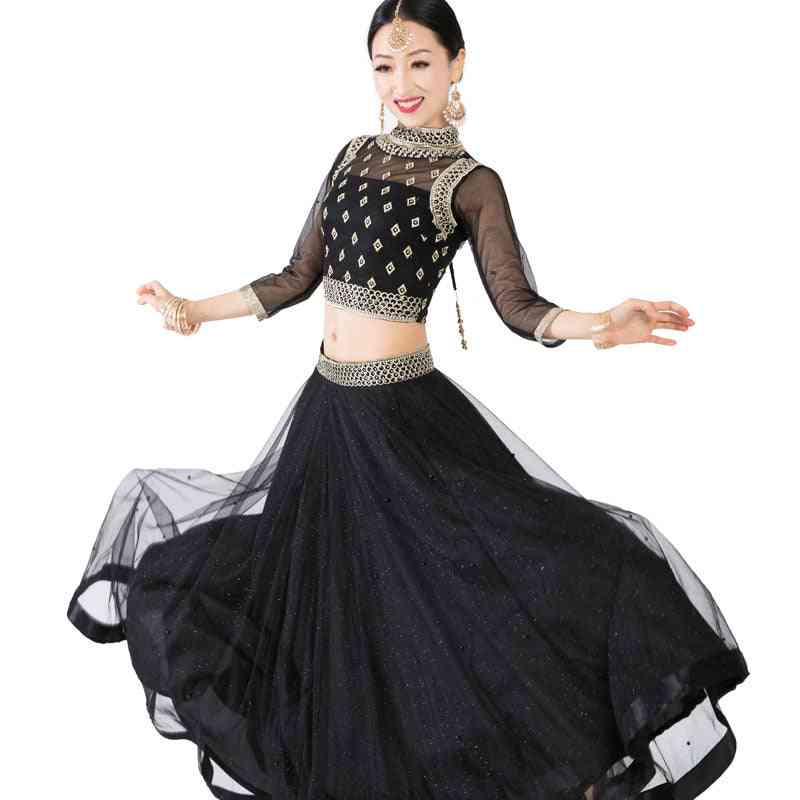 Three Pieces- Lehenga Choli, Belly Dancing, Embroidery Dress