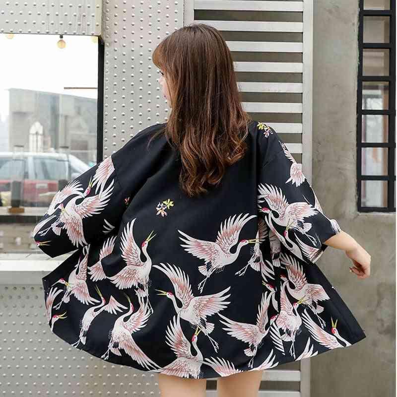 Summer- Kimono Cardigan, Japanese Traditional, Kimono Cover-up Shirt