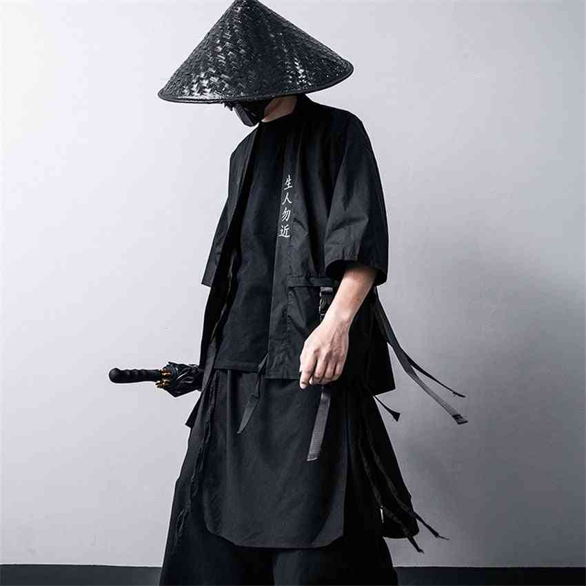 Japanese Traditional, Kimono Cardigan, Cotton Stage, Coat Costumes
