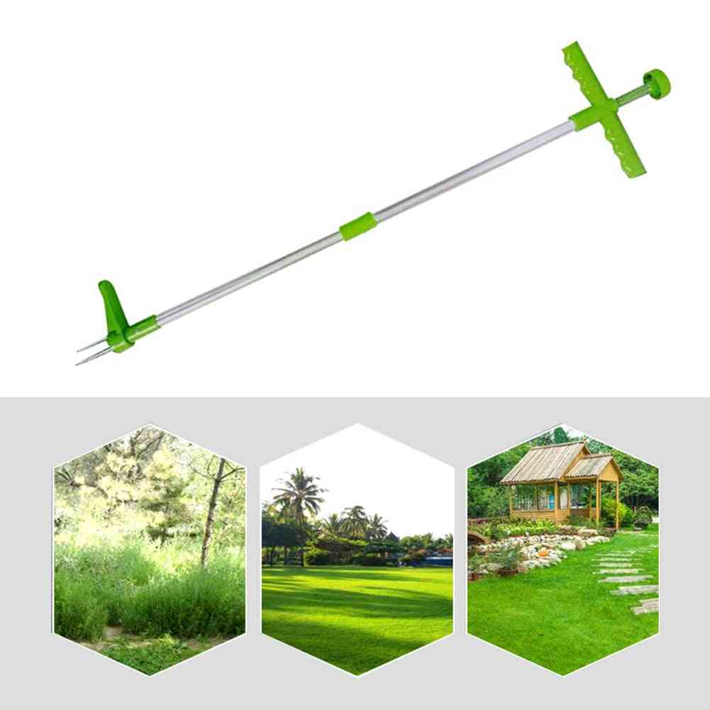 Portable Long Handled, Lightweight Garden, Lawn Weed Puller, Root Remover Tool
