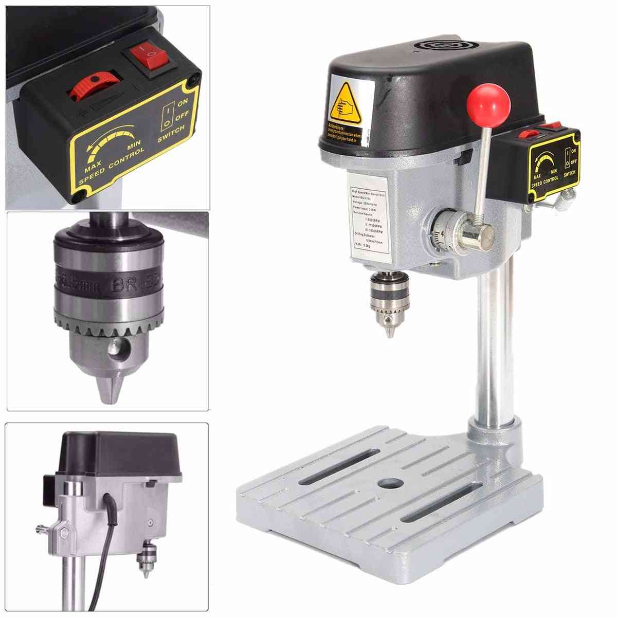 240w- Drill Press, Mini Drilling Machine For Bench Table, Chuck Wood, Metal Electrical Tools