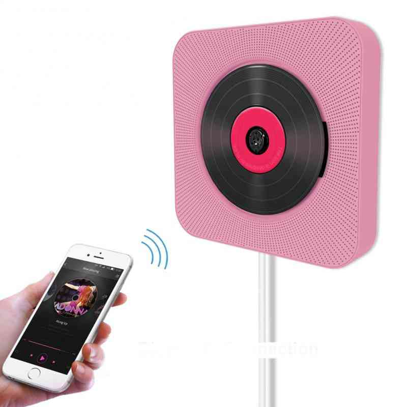 Cd Player Wall-mounted, Bluetooth Audio, Boombox Hifi Speakers With Remote Control