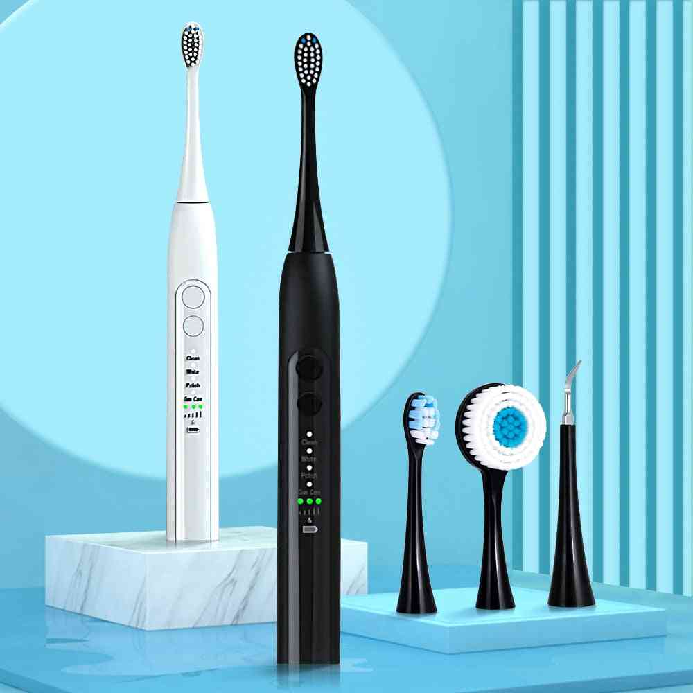 Electric Toothbrush Rechargeable, Multi Modes Ultrasonic Automatic Brush Face Cleansing