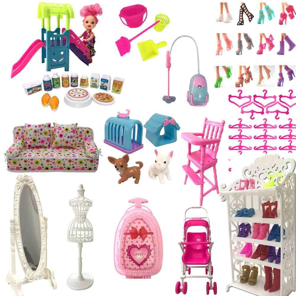 Cute Furniture, Shoe Rack, Hangers Barbie Doll, Kelly Dollhouse Accessories