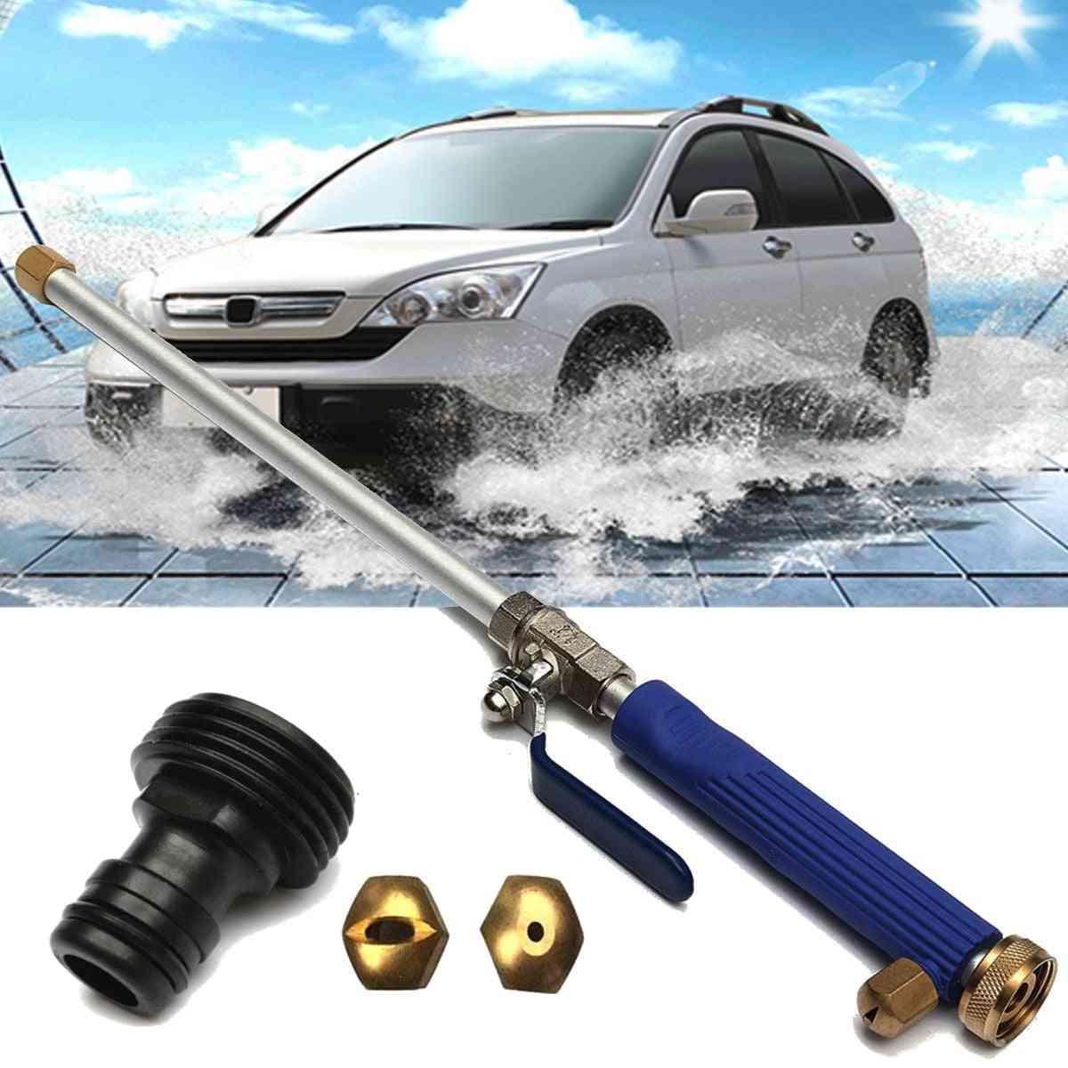 Aluminium High Pressure Power Car Washer Spray Nozzle Water Gun Hose Wand Attachment W/tips