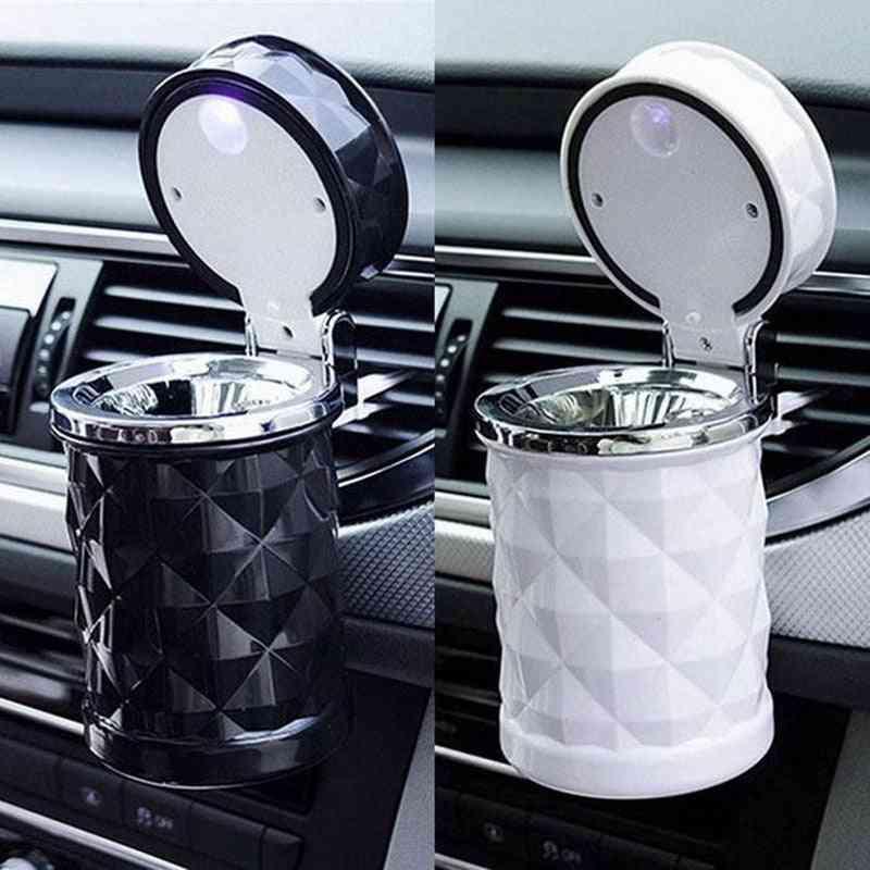 Portable Auto Blue Led Light, Smokeless Rubber, Cigarette Holder