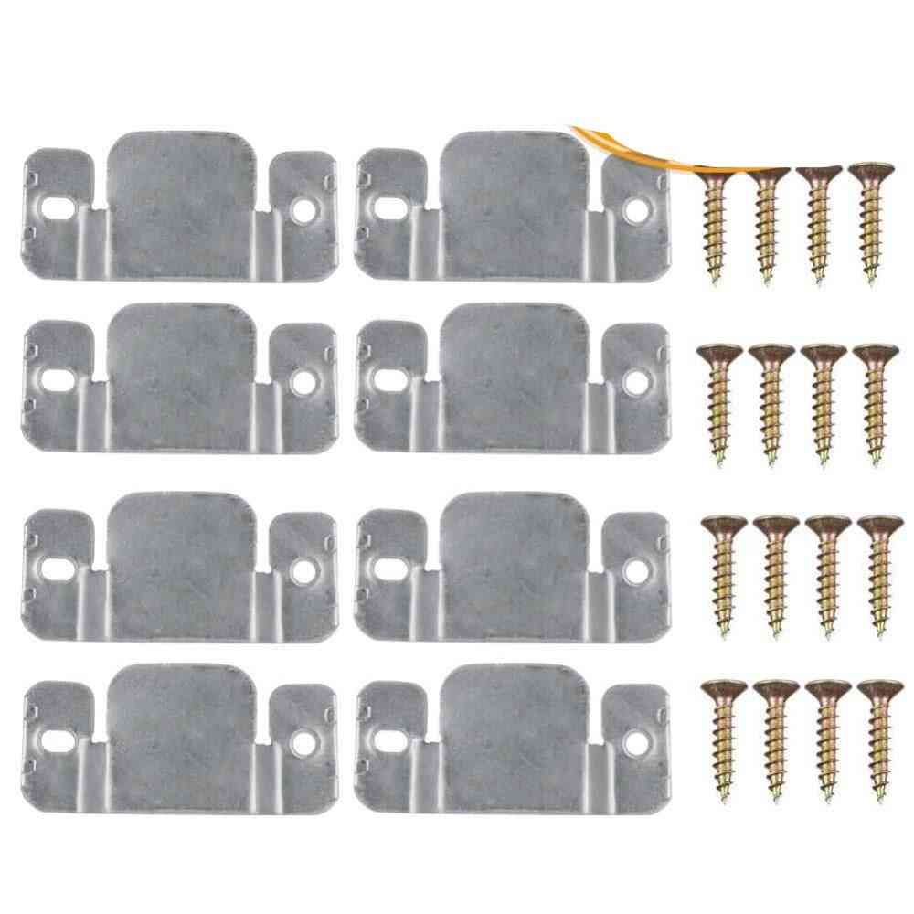 Metal Sectional Sofa Interlocking Furniture Connector With Screws