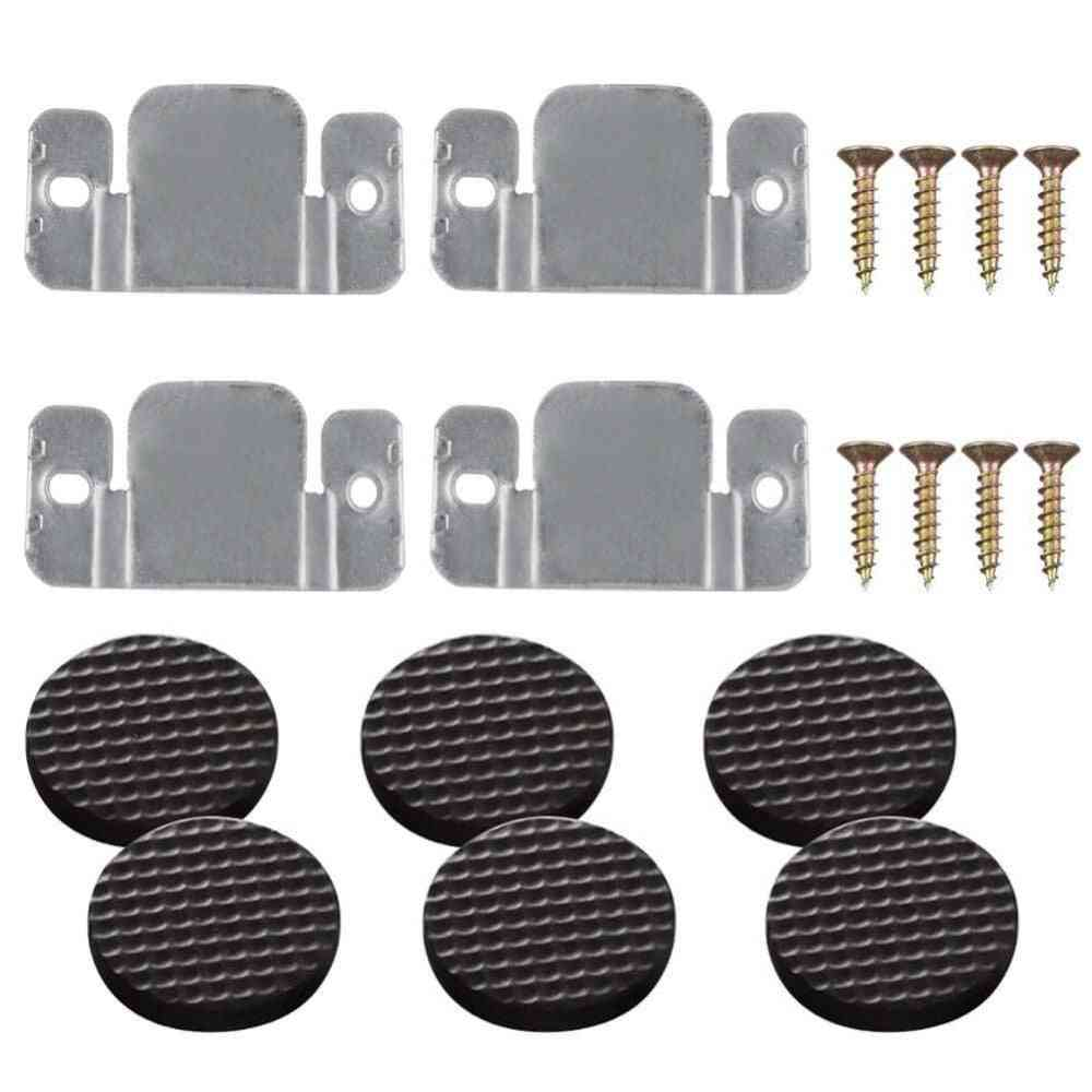 Sectional Sofa/couch Interlocking Connector With Screws And Furniture Pads