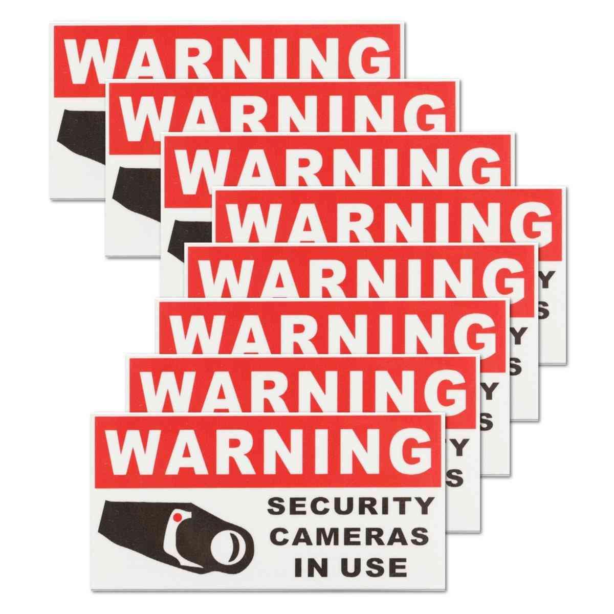 Security Camera In Use Waterproof Self-adhesive Warning Stickers